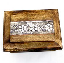 Rustic Floral Inlaid  Box